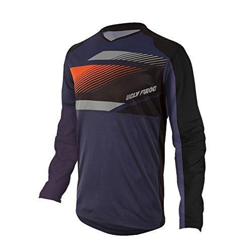 UGLY FROG 2021 Herren Mountainbike Downhill Freeride BMX Trikot Shirt Motocross Langarm Ärmel MTB/Downhill Cycling Jersey