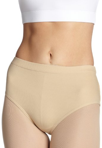 Capezio Big Girls' Brief, Nude, Medium (7-8)