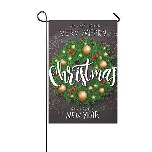 JOCHUAN Startseite Dekoratives Outdoor Doppelseitiges Weihnachtsplakat Weihnachtsdekoration Fichte Garten Flagge, Haus Yard Flag 12 X 18 Zoll Frühling Sommer Geschenk