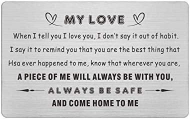 To My Love Gifts for Him Always Be Safe I Love You Wallet Card Husband Birthday Card Gifts Deployment product image