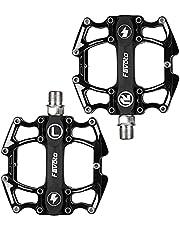 "Favoto Fiets Pedaal Mountain Road Fiets Brede Platte Platform Pedalen, 9/16 ""Schroefdraad Antislip Aluminiumlegering, Verzegeld Lager Lichtgewicht Fietspedaal voor Volwassen BMX MTB Bike Accessoires"