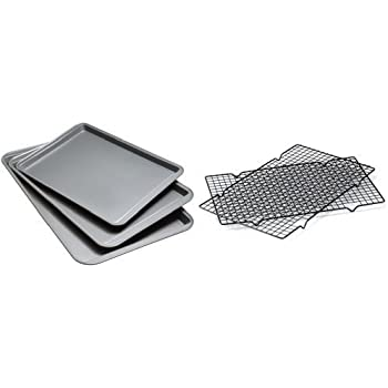 Good Cook Non-Stick Cookie Sheets and Cooling Racks (5 Piece)
