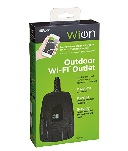 WiOn 50049 Outdoor Wi-Fi Wireless Plug-In Switch, Smartphone And Tablet Automation For Up To 12...