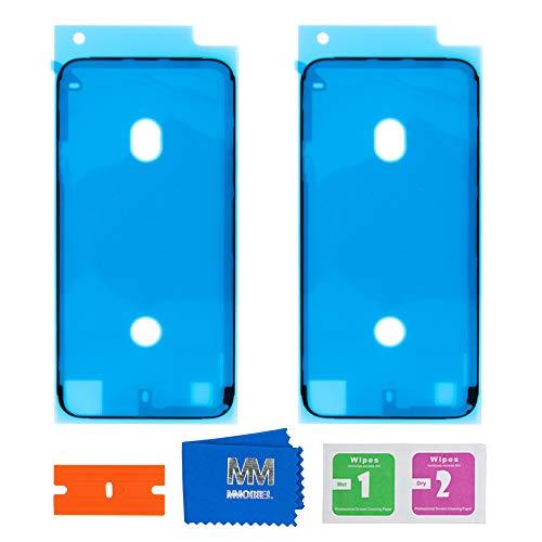 MMOBIEL 2 x Adesivo Impermeabile Pre Tagliato Compatibile con iPhone SE 2020/8 4.7 inch (Nero) per Frame Schermo LCD