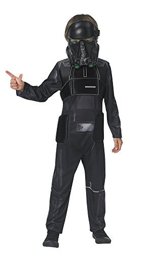 Star Wars Rogue One - Disfraz de Death Trooper para niños, infantil 9-10 años (Rubie's 630508-XL)