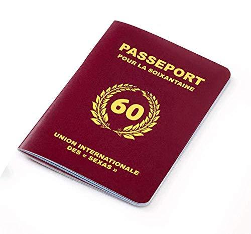 Livre d'or Passeport pour la soixantaine - Anniversaire 60 Ans - Cadeau Femme / Homme