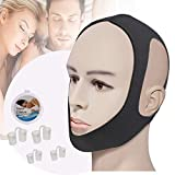Anti Snoring Chin Strap-Effective Snoring Solution and Anti Snoring Devices - Snoring Chin Strap Stop Snoring Sleep Aid for Men and Women ]