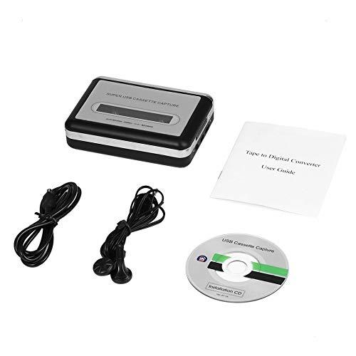 USB # 2.0 cinta portátil a PC Super cassette a MP3 audio música CD reproductor digital convertidor captura grabador+auriculares