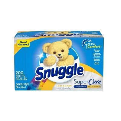 Snuggle Supercare Lilies & Linen Dryer Sheets - 200ct/ スナッグル スーパーケア ドライシート リリー&リネン 200枚入り [並行輸入品]