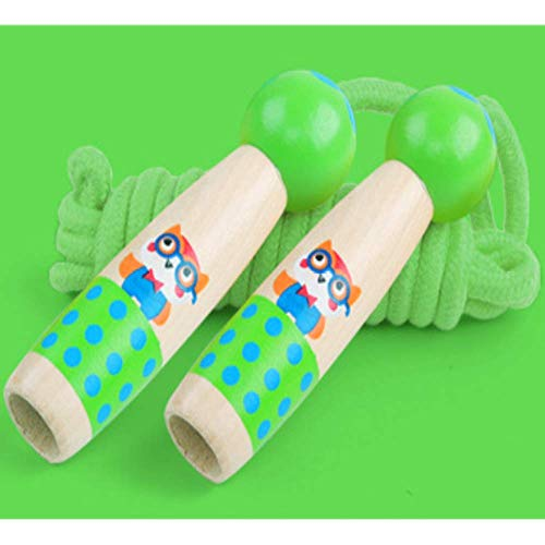 FFDGHB Springseil Holz Springseil Erwachsene Outdoor Springseil Springseil Spielzeug Kleine Kinder Fitness Spiel Springseil