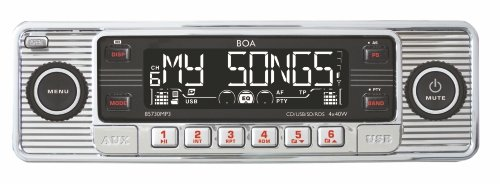Dietz 85730MP3 Retro Auto Radio (CD-RW, SD-Kartenslot, RDS, AUX-IN, USB) Silber