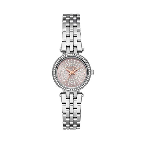 Michael Kors Women's Darci Quartz Watch with Stainless Steel Strap, Silver, 14 (Model: MK4409)