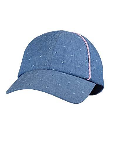 maximo Baby-Mädchen Cap Kappe, Blau (Denim/Mandelblüte 4023), (Herstellergröße: 47/49)