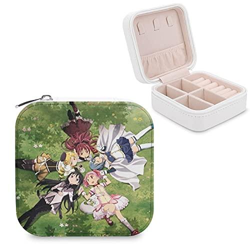 Mahou Shoujo Madoka MagicaJewelry - Caja de almacenamiento para joyas, compartimento para la gestión del hogar, viajes, pendientes de regalo, collar de moda