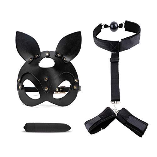Tangpingsi, conjunto de juguete de máscara de cuero PU para mujeres...