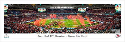 NFL Super Bowl LIV Champions - Kansas City Chiefs - Unframed 40 x 13.5 Poster by Blakeway Panoramas