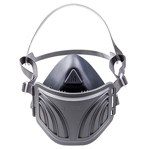RANKSING Strong-1020B Dust Half Respirator for painting ,Renovation house,Worker protection,etc,Black with Grey