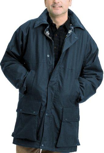 Country Leisure Wear - Veste de Pluie Cirée pour Homme - Taille XL - Olive