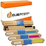 Bubprint - 4 Toner compatibile per Oki 46508712 46508711 46508710 46508709 XL per C332DN C332 DN MC363DN MC363 DN MC363N, colore: Nero/Ciano/Magenta/Giallo