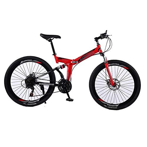 Bicicleta plegable con neumáticos antideslizantes y resistentes al desgaste, freno de disco doble ideal para andar en la ciudad y desplazarse, bicicleta de estilo libre para niños y niñas, 26 pulgadas