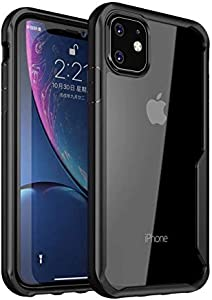 iPAKY cover case for iPhone 11 with a Black Farm and a clear back