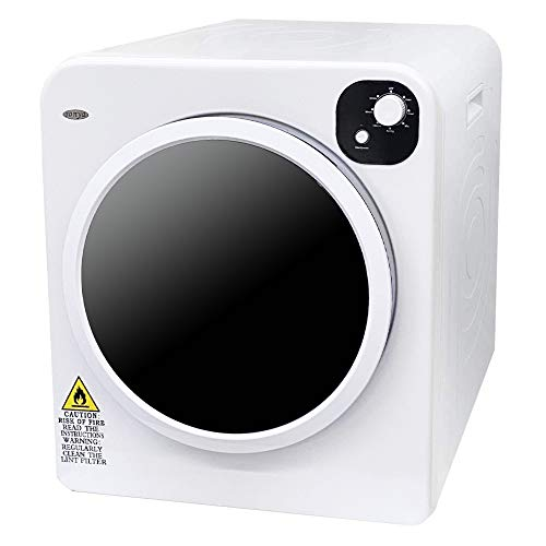 Sonya 13.2lbs Electric Portable Compact Cloth Dryer with Stainless Steel Tub, 7 Drying Mode, White