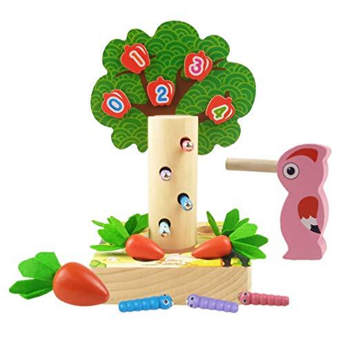 Toddmomy Houten Wortel Speelgoed Specht Worm Vangen Cadeauset Montessori Speelgoed Motorische Vaardigheid Ontwikkelingsleer Vaardigheden Baby Peuters Voeden Speelgoed Spel