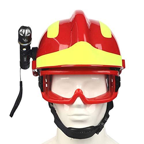 OWSOO Casco Obra Gafas Protectoras Linterna, Casco