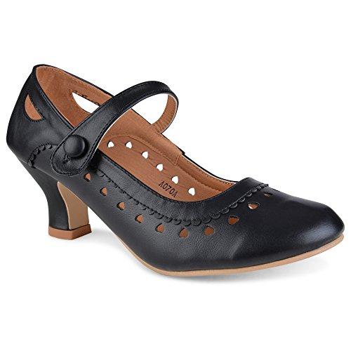 Glamz by Shoes Click, Scarpe con Tacco Donna, Nero (Nero), 42