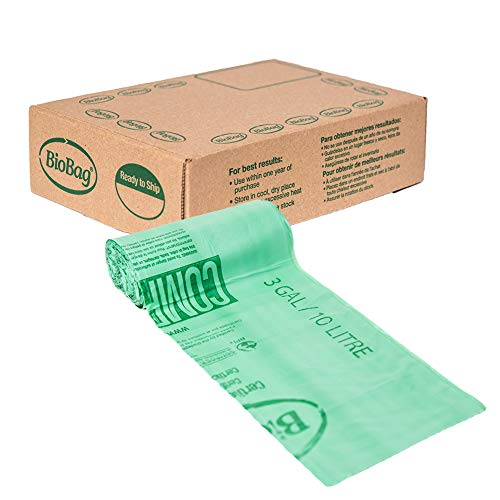 BioBag Compostable Countertop Food Scrap Bags, 3 Gallon, 100 Count