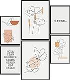 Papierschmiede® Mood-Poster Set Frühling Abstrakt | 6