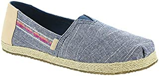 TOMS Kids Girl's Alpargata (Little Kid/Big Kid) Navy Rugged Chambray/Rope 1.5 M US Little Kid