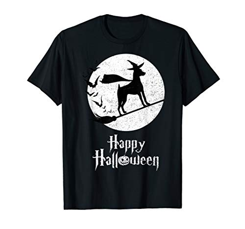 Funny Halloween Costume Witch MIN PINS Dog Lover Gift T-Shirt