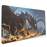 The Lord and The Faithful Dragon Mouse Pad 15.7 X 35.4 Inch (40 X 90 cm) Soft Gaming Mouse Mat Ultra Thick 19mm Extended Large