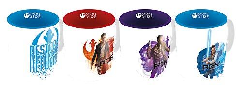 SD Toys - Set 4 Tasses Expresso Star Wars Les Derniers Jedi - Resistance - 8435450200649