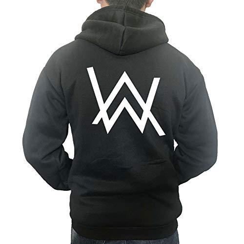 Kigcos AW Walker Logo Unisex Zip Hoodies Cosplay Costome Black