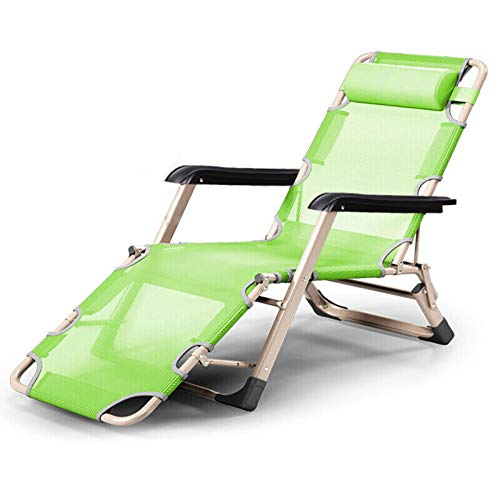 Olz Garden Loungers and Recliners Folding Sun Bed With Breathable Synthetic Fabric, Backrest 4 Position Adjustment Lounger Chair,178 x 66 x 25cm,Max 150 kg/330 lb,D,178X66X25CM