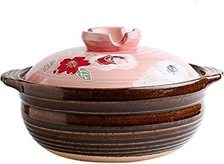 XJJZS Cuisinière À Gaz De Pot De Riz Soupe Ragoût Céramique Domestique Sakura Argile Ancienne Casserole Marmite en Terre C...