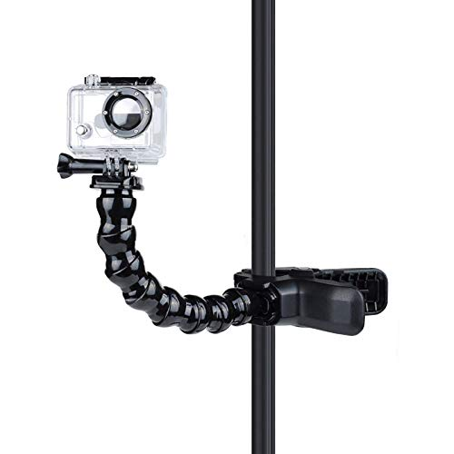 VARIPOWDER Jaws Flex Clamp Mount Gooseneck Mount for GoPro Hero 9/8/7/6/5/ Hero 2018 /Fusion/Hero 5 Session/Hero Session/Hero 4/3+/3/2 DJI Osmo Xiaomi Yi AKASO Action Camera Accessories