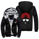 NIEWEI-YI Men's Casual Hooded Sweatshirts,Naruto Chaqueta con Capucha y Cremallera para Hombre, Forro Polar,XXL