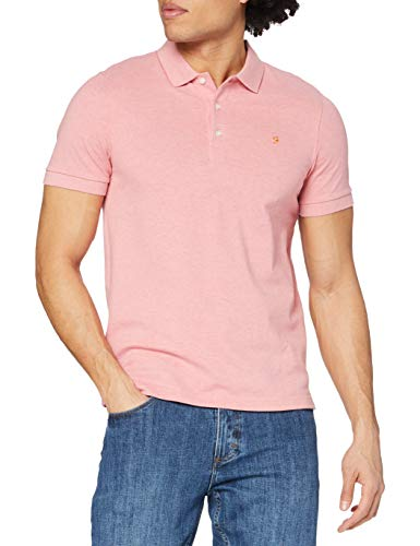 Farah BLANES Polo, Palissade Rose chiné, L Homme