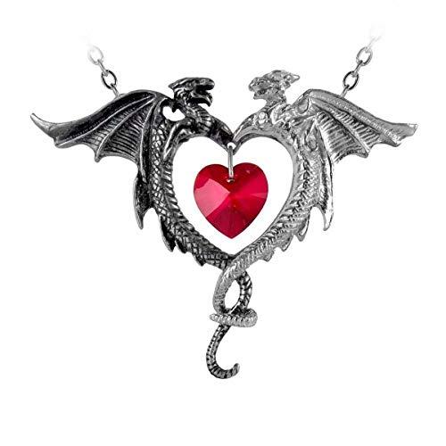 Drachen Dragon Herz Heart Magie Gothic Amulett Anhänger Dragonheart