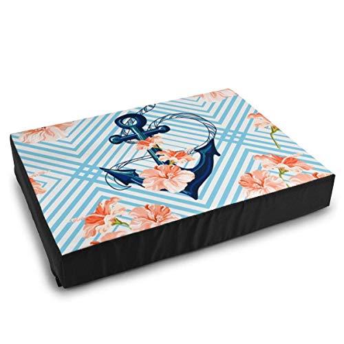 YAGEAD Pet Bedding Schöne Tropische Muster mit Anker Ok Hundebett für mittel kleine Hunde Kissen Bett