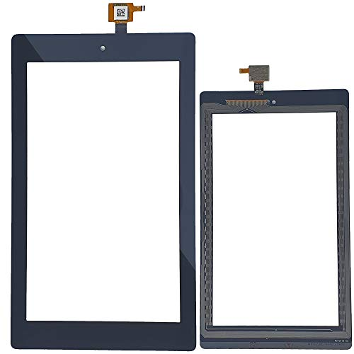 """Leaf Electrics Amazon Kindle Fire 7 (2019) 7"""" M8S26G Touch Front Glass Only Screen Digitizer Replacement (Black)"""