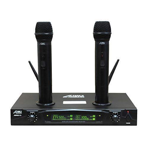 Audio 2000s AWM6113 Dual Channel Rechargeable VHF Wireless Microphone System