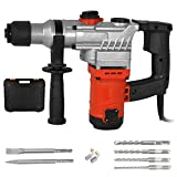 DCRMMRT 1-1/2' Hammer Drill 13 Amp Heavy Duty Demolition Hammer with Vibration Control and Safety Clutch Including Chisels and Drill Bits