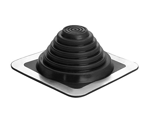 """Oatey 14052 .25"""" 4"""" Master Flash 8"""" x 8"""" Base, for use with profiled Materials and can be Installed on Every Type of Roofing Surface, 0.25"""" - 5.75"""", 1/4-Inch-4-Inch"""