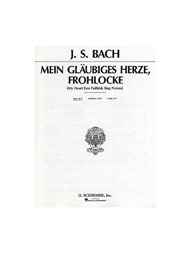 pequeño y compacto IS Bach: Mi corazón siempre es sincero (mi corazón fiel. Voz de bajo, notas de acompañamiento …
