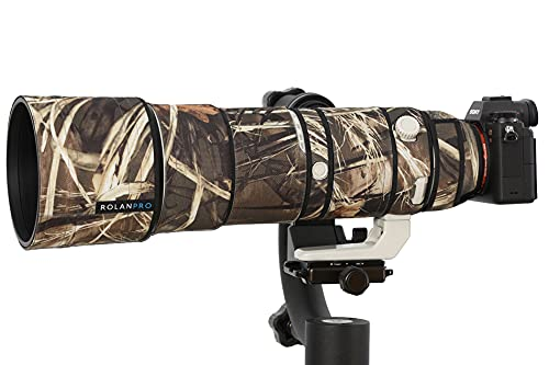 ROLANPRO Nylon Waterproof Lens Camouflage Rain Cover for Sony FE 200-600mm F5.6-6.3 G OSS Lens Protective Case Guns Clothing