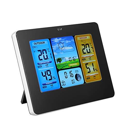 SALALIS Sensor Exterior inalámbrico Superior, función de Alarma Estación meteorológica inalámbrica montada en la...